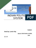 Indian Political System Prepared by Lenin Raj