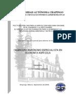 Politicas Publicas Para La Agricultura Mexicana