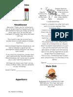 natalie scholbergs simple machine steakhouse learning menu