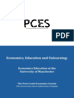 Post Crash Economics Economics Education and Unlearning
