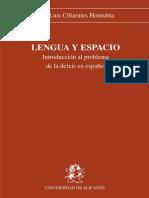 Cifuentes Honrubia Jose Luis - Lengua Y Espacio [PDF]