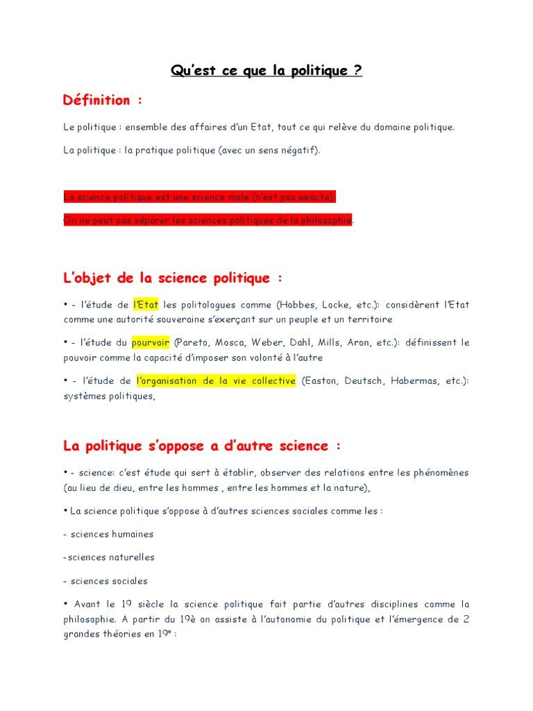 introduction  u00e0 la science politique docx