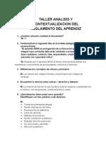 Taller Analis y Contextualizacion Reglamento Del Aprendiz
