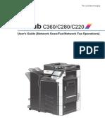BizhubC360 C280 C220NetworkScan Fax NetworkFaxOpUserGuide