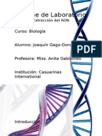 Informe de Laboratorio - Extraccion Del ADN