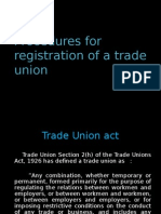 prodedure for registration of trade union