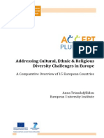 Cultural Diversity in Europe a Comparative Analysis