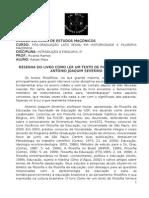 1ª atividade - RESENHA LIVRO COMO LER UM TEXTO DE FILOSOFIA.doc