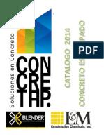 Concretap Catalogo 2014