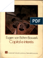 Böhm-Bawerk - Capital e Interés