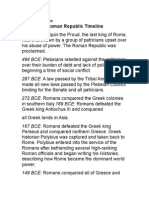 rise of the roman republic timeline