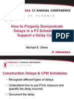 2004 How to Properly Demonstrate Delays in a P3 Schedule to Support a Delay Claim