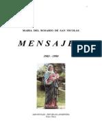 Mensajes de María Del Rosario de San Nicolás - Años