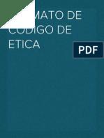 Formato de Codigo de Etica para empresas