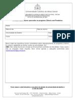 FormuláRio Para Aprovados CsF