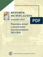 Reporte de Inflacion Setiembre 2013