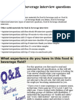 Top 10 Food Beverage Interview Questions And Answerspptx