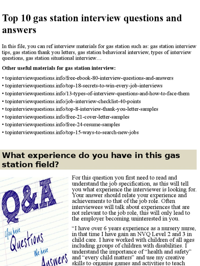 Top 10 Gas Station Interview Questions And Answers.pptx | Interview | Job  Interview