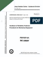 Handbook of Rel Pred Proc for Mech Equip