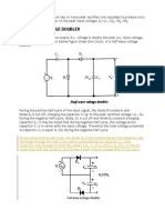 In Voltage Multiplier Circuit Two or More Peak Rectifiers Are Cascaded to Produce a d