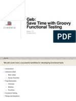 Geb Save Time With Groovy Functional Testing