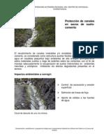 Proteccion de Canales en Sacos de Suelo Cemento