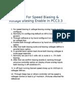 Procedure for Speed Biasing