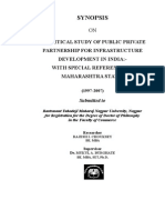 """A CRITICAL STUDY OF PUBLIC PRIVATE PARTNERSHIP FOR INFRASTRUCTURE DEVELOPMENT IN INDIA-.doc"