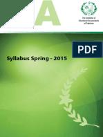 SYLLABUS Spring 2015