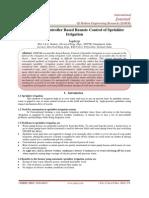 GSM-Microcontroller Based Remote Control of Sprinkler Irrigation