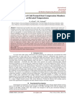 Buckling Analysis of Cold Formed Steel Compression Members at Elevated Temperatures