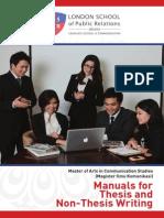 Thesis Manual 2014