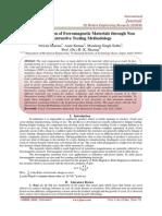 Crack Detection of Ferromagnetic Materials through Non Destructive Testing Methodology