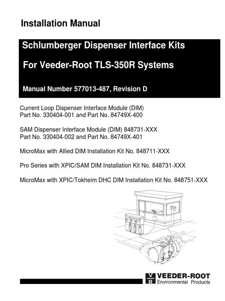 577013-487 Schlumberger Dispenser Interface Kits for