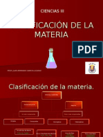Clasificacionde La Materia
