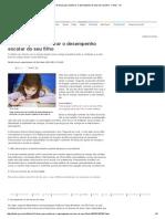 10 Dicas Para Melhorar o Desempenho Escolar Do Seu Filho - Filhos - IG