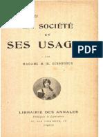 MM Girodroux - La Société Et Ses Usages