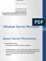 Window Server Monitoring