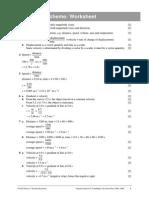 1 Marking Scheme Worksheet