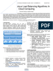 A Survey of Various Load Balancing Algorithms in Cloud Computing