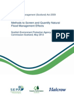 Natural Flood Management, Screening and Quantifying the Effects