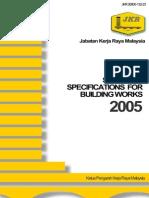 JKR Spec for Building Work