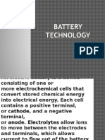 Battery Technology Ppt