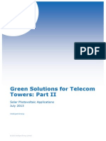 Green Solutions for Telecom Towers Part 2 Solar Photovoltaic Applications