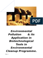 Environmental pollution & its application biotechnological tools in environmental cleanup programme