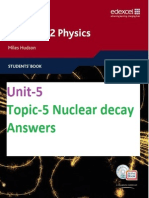 Unit-5 Topic-5 Nuclear Decay Answers (End-of-chapter & Examzone)