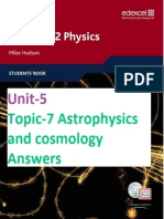 Unit-5 Topic-7 Astrophysics and Cosmology Answers (End-of-chapter & Examzone)