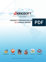 2013 Annual Report Kingsoft