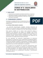 Laboratorio de Fisicoquimica II- Equilibrio de Distribucion
