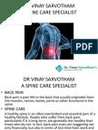 Dr Vinay Sarvotham Spine Care